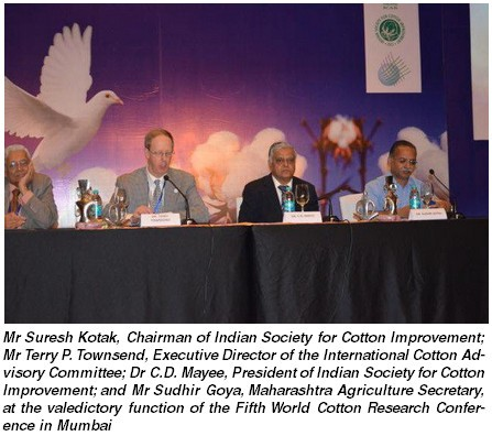India Fifth World Cotton Conference (WCRC-5) held in Mumbai