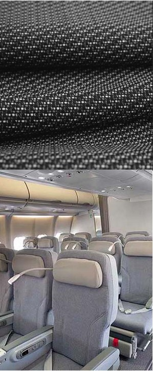 rohi sets new standards with home-style fabric design for the cabin interior of the Alitalia A330 fleet. The new A330 cabin interior will also be introduced on the retrofit program for the entire Boeing B777 fleet of Alitalia. The shades of grey in the classic-weave woollen fabric designed especially for Alitalia tend to be cool, but create a strongly welcoming effect in combination with silver, black and green elements. In combination with the exclusive rohi aircraft leather for the headrests, the result is a harmonious overall colour concept throughout the entire aircraft cabin. This successful interpretation ensures a high-level of comfort and creates an atmosphere for a relaxed flight.