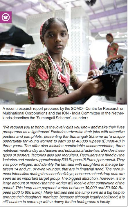 Foreign Retailers and Buyers want Tamil Nadu's Textile & Garment Units to Scrap 'Sumangali Scheme' of employment for girls