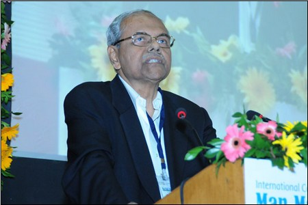 Dr. PR Roy speaking during the inaugural ceremony
