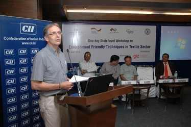 Dr. Dieter Mutz, Director, GIZ-IGEP speaking on the occasion