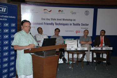 Dr. K. U. Mistry, Chairman of Gujarat Pollution Control Board speaking on the occasion