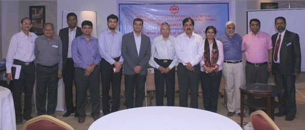 A Group photograph of the office bearers of the ITAMMA, Citibank officials and main speaker Dr. Gunjan Arora (4th from right) with the chief guest Dr. Chandan Chaterjee, Director of the Center for Entrepreneurship Development (CED) and Advisor to iNDEXTb (5th from right).
