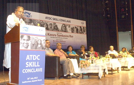 The Union Minister for Textiles, Dr. Kavuru Sambasiva Rao delivering the Opening Address at the Apparel Training & Design Centre (ATDC) Skill Conclave, at Gurgaon, Haryana on July 30, 2013.