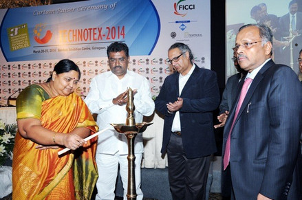 Pics from the 'Curtain Raiser Ceremony' of Technotex 2014: International Exhibition and Conference in Mumbai. Technotex 2014 will be held from March 20-22, 2014 at the Bombay Exhibition Centre, Goregaon, Mumbai