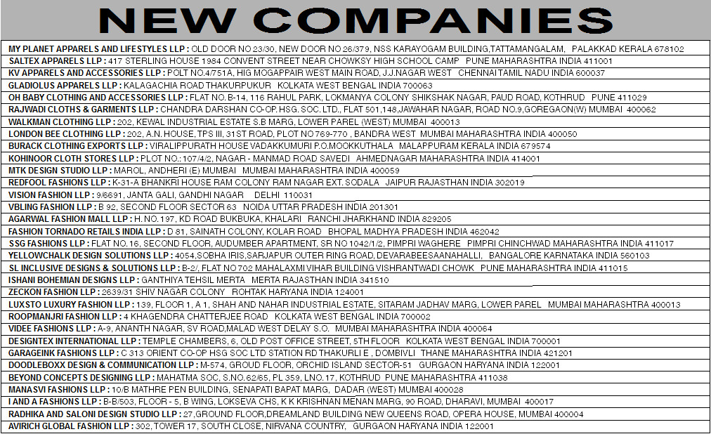 New Companies April, 2015 (Page 3)