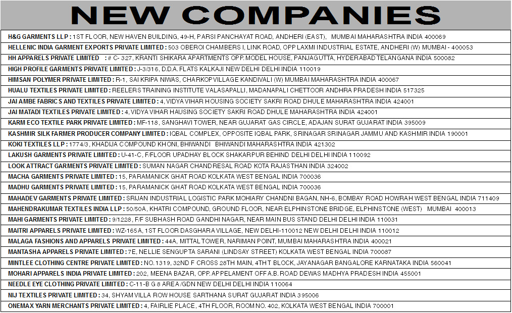 New Companies May, 2015 (Page 2)
