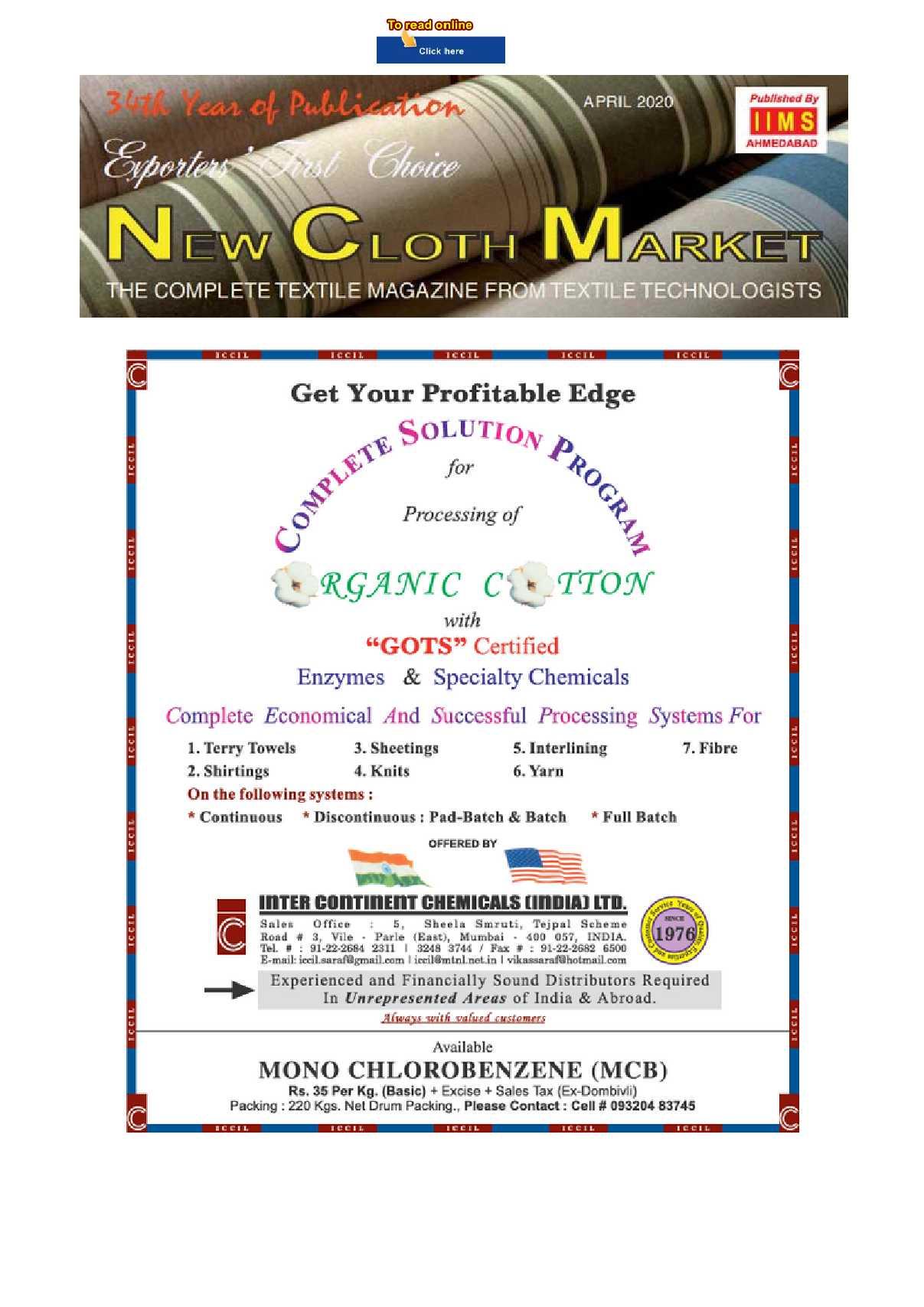 New Cloth Market April 2020 Digital Edition