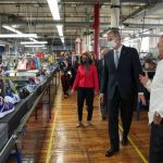 Governor Baker tours New Balance's PPE production line in Lawrence