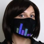 Tech-enabled fashion mask from Lumen Couture