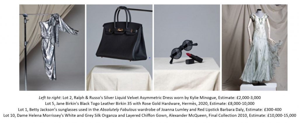 items to be auctioned by Christie's