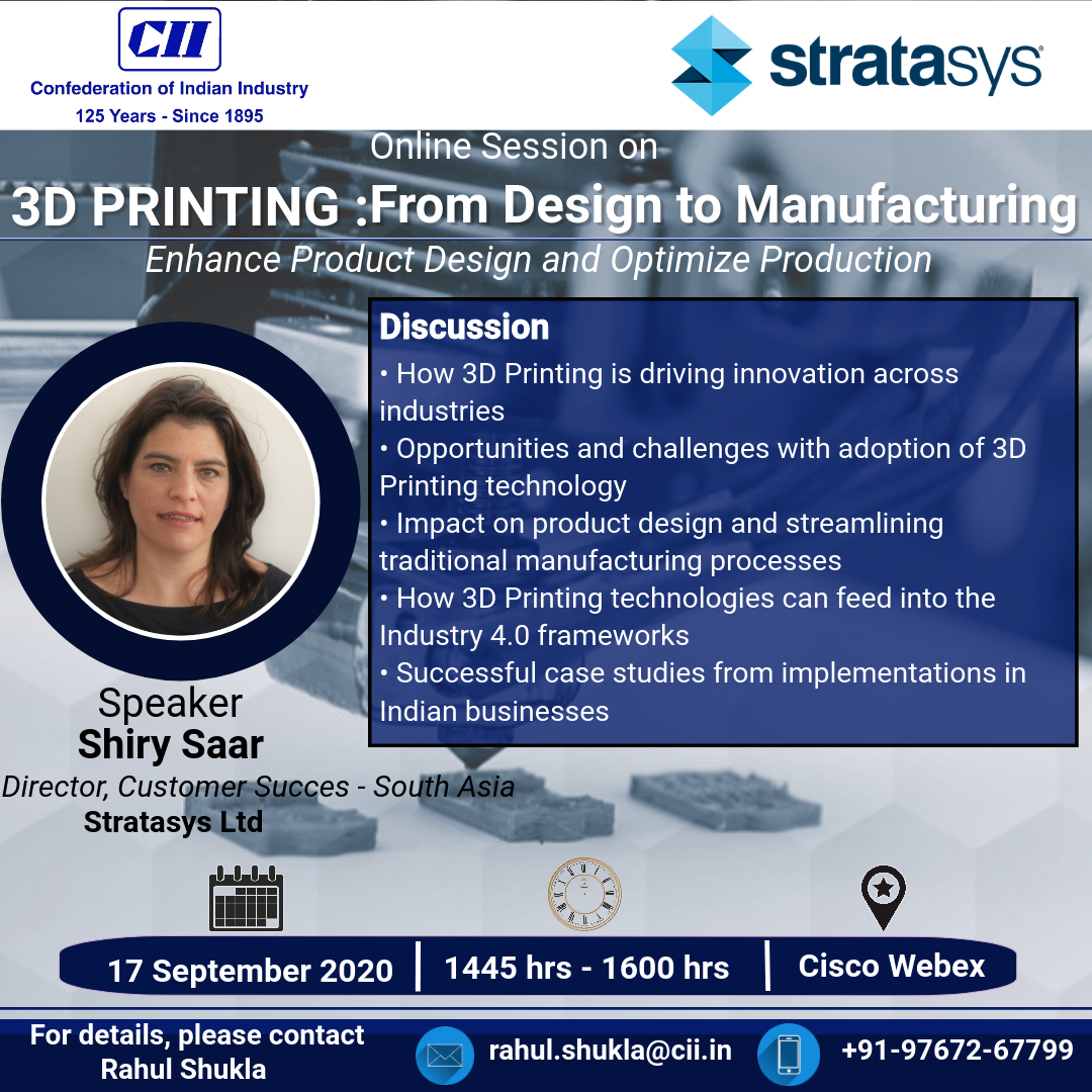 CII Online Session on 3D Printing