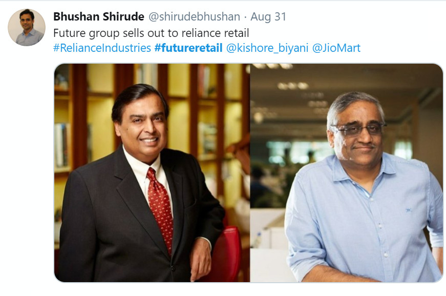 Tweet of Bhushan Shirude, Founder - Medlife