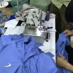 Fake branded T-shirts seized from a factory in Hai Duong, a highly industrialized province in the Hanoi Capital Region
