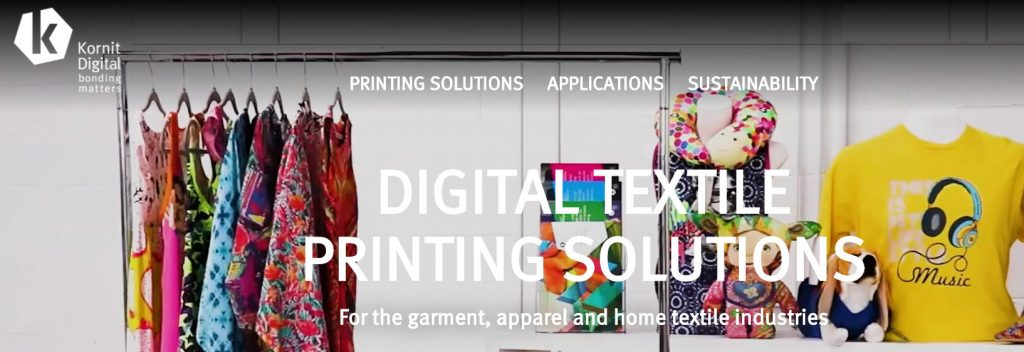 kornit digital printing of textiles and garments