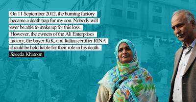 Ali Enterprise factory fire verdict