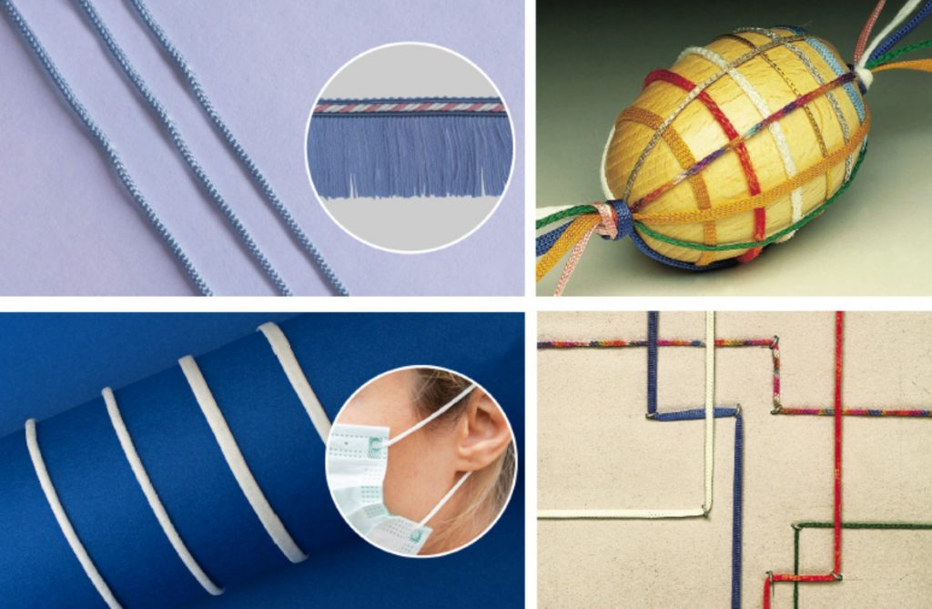 Products Made with High Speed Circular Knitting Machine For Chainette Cords