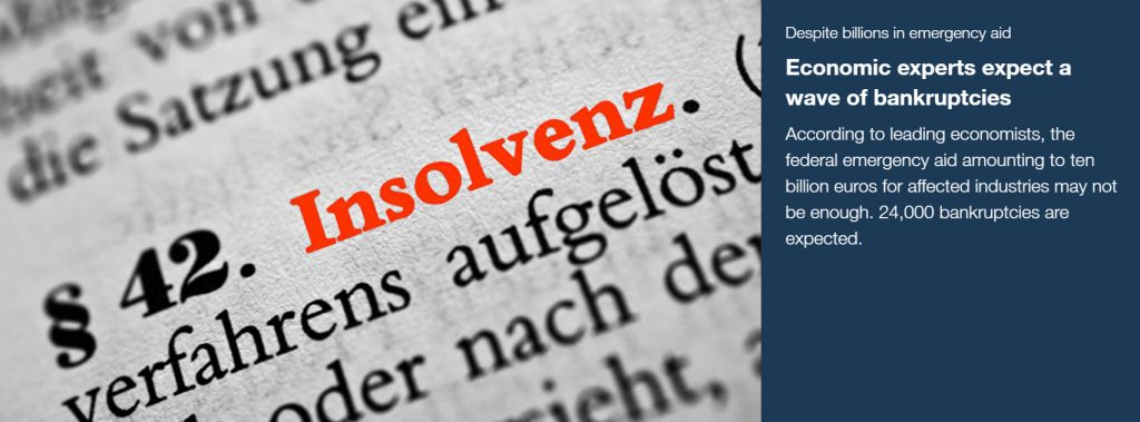 Experts expect a significant increase in insolvency proceedings in the German economy