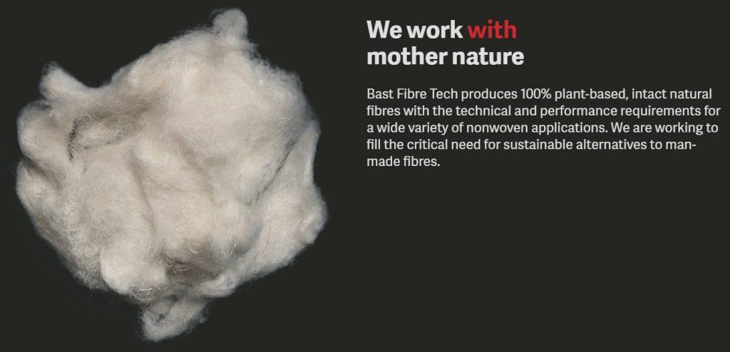 bast fibres 100 percent plant-based, intact natural fibres