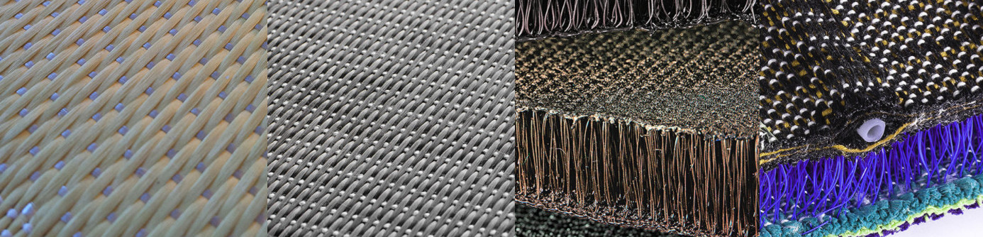 technical textiles, heavy industrial textiles and reinforcement fabrics made on Stäubli machinery