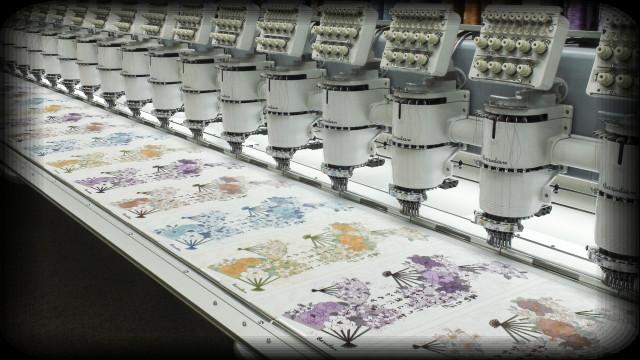 Barudan multi-head embroidery machine