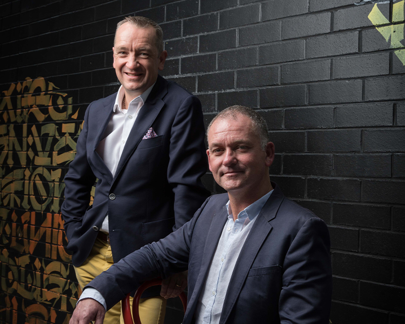 BlockTexx co-founders Adrian Jones (L) and Graham Ross