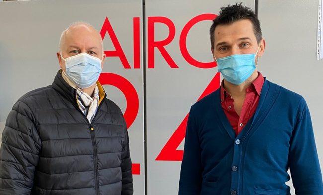 CEO Massimo Biancalani left and RandD Manager Maurizio Toccafondi