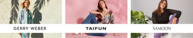 In addition to the Gerry Weber brand, the Gerry Weber Group also owns the younger TAIFUN brand and the plus-size brand SAMOON