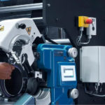 Printing Biosensor Test Strips-6 by SPGPrints rotary screen printing having new RSI® III rotary screen integration unit
