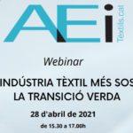 AEI Tèxtils Organizes a Webinar on  Green Transition for a more Sustainable Textile Industry