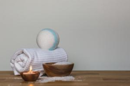 Luxurious bath towel used to recreate the spa experience at home